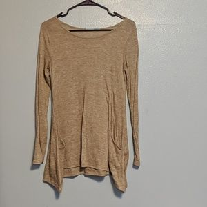 Oatmeal brown shirt S